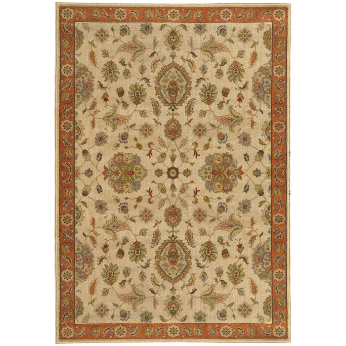 5317B Casablanca Indoor Area Rug Beige/Rust