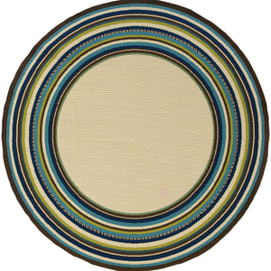 1003X Caspian Indoor/Outdoor Rug Ivory/Blue