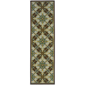 1005D Caspian Indoor/Outdoor Rug Brown/Ivory - ReeceFurniture.com
