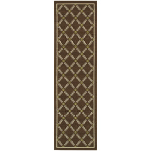 6997N Caspian Indoor/Outdoor Rug Brown/Ivory