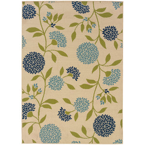 8327Y Caspian Indoor/Outdoor Rug Ivory/Green