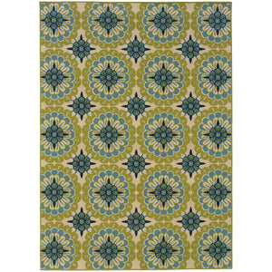 8328W Caspian Indoor/Outdoor Rug Green/Ivory - ReeceFurniture.com
