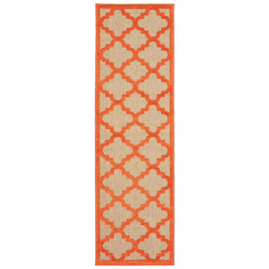 660O9 Cayman Indoor/Outdoor Rug Sand/ Orange - ReeceFurniture.com
