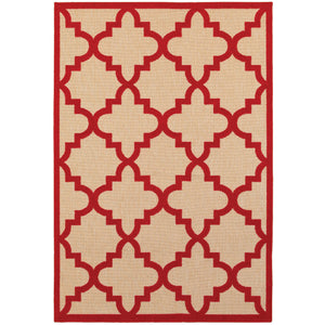 660R9 Cayman Indoor/Outdoor Rug Sand/ Red