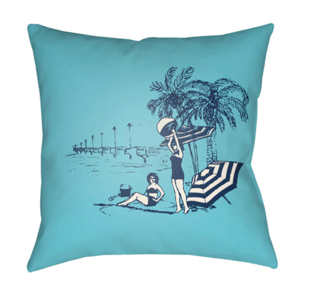 Carolina Coastal Pillow Cover - Dark Blue, Sky Blue - CC003