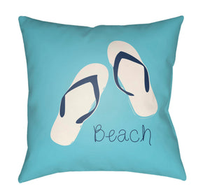 Carolina Coastal Pillow Cover - Dark Blue, Sky Blue - CC005