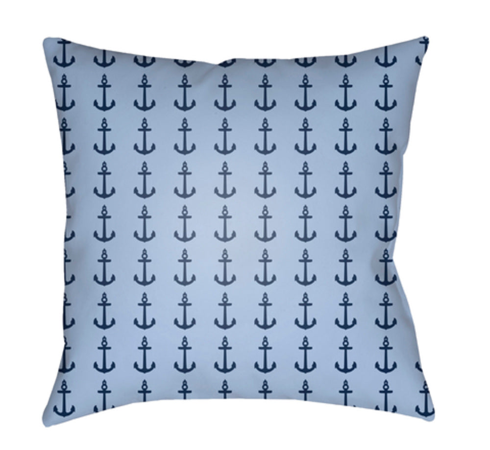 Carolina Coastal Pillow Cover - Dark Blue, Sky Blue - CC008