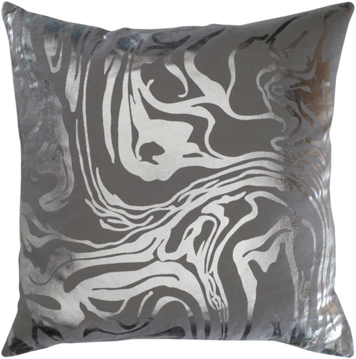 Crescent Pillow Kit - Medium Gray, Metallic - Silver - Down - CSC009