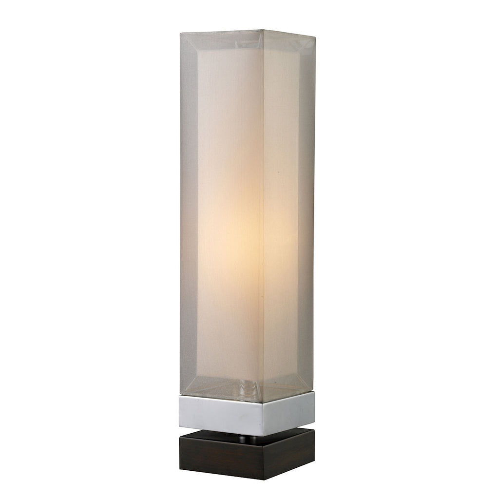 D1409 Volant Table Lamp In Chrome And Painted Espresso Base With Double Framed Shade, Table Lamp, Dimond Lighting, - ReeceFurniture.com - Free Local Pick Ups: Frankenmuth, MI, Indianapolis, IN, Chicago Ridge, IL, and Detroit, MI