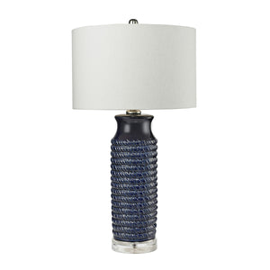 D2594 Wrapped Rope Ceramic Table Lamp in Navy Blue, Table Lamp, Dimond Lighting, - ReeceFurniture.com - Free Local Pick Ups: Frankenmuth, MI, Indianapolis, IN, Chicago Ridge, IL, and Detroit, MI