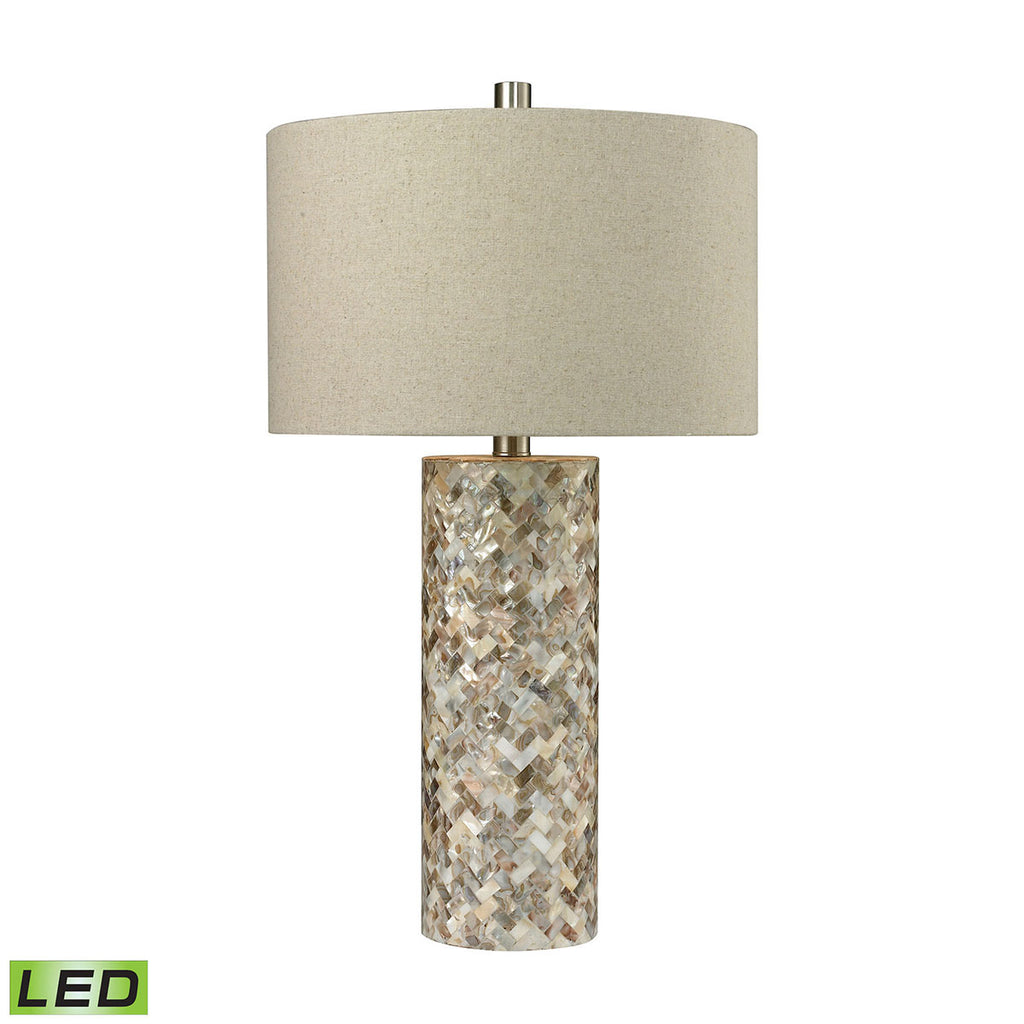 D2608-LED Trump Home Herringbone LED Table Lamp In Natural Mother of Pearl, Table Lamp, Dimond Lighting, - ReeceFurniture.com - Free Local Pick Ups: Frankenmuth, MI, Indianapolis, IN, Chicago Ridge, IL, and Detroit, MI