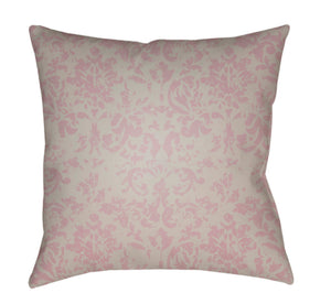 Moody Damask Pillow Cover - Rose, Light Gray - DK029