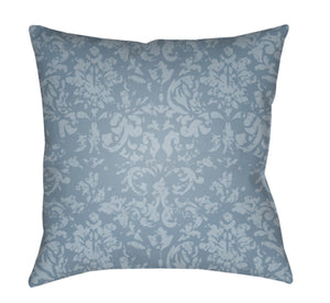 Moody Damask Pillow Cover - Pale Blue, Denim - DK034