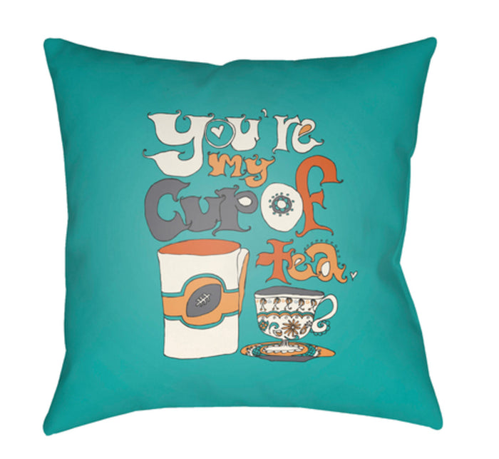 Doodle Pillow Cover - Burnt Orange, Mint, White, Saffron, Charcoal - DO018