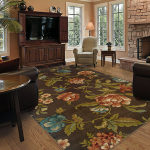 1997A Emerson Indoor Area Rug Brown/Green