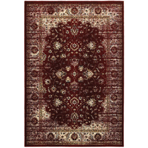 114R4 Empire Indoor Area Rug Red/ Ivory