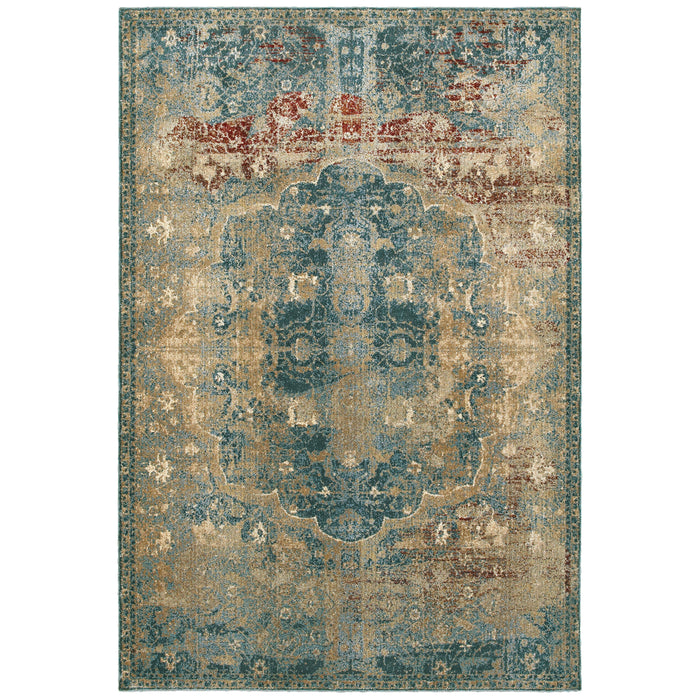 4449H Empire Indoor Area Rug Gold/ Blue