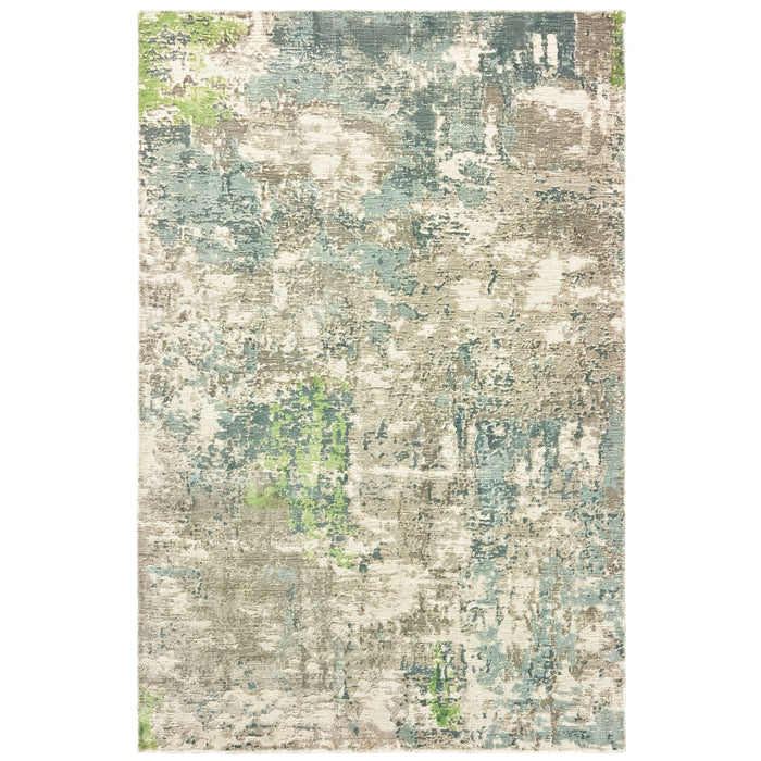 70007 Formations Indoor Area Rug Blue/ Green