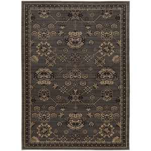 4923E Foundry Indoor Area Rug Grey/ Charcoal
