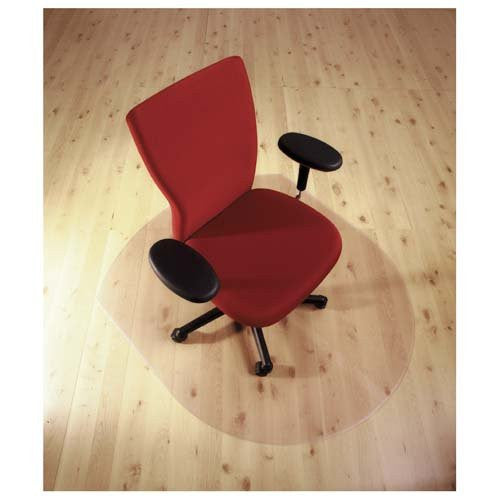 "Cleartex Ultimat Polycarbonate Contoured Chair mat for Hard Floor (39"" X 49"")"