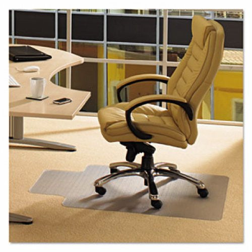 "EcoTex Enhanced Polymer Clear Chair mat for Standard Pile Carpets 3/8"" or less , Rectangular with Front Lipped Area for Under Desk Protection(36"" X 48""), Floor Mats, FloorTexLLC, - ReeceFurniture.com - Free Local Pick Ups: Frankenmuth, MI, Indianapolis, IN, Chicago Ridge, IL, and Detroit, MI"