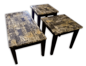 16002L Breccia Faux Marble, Occasional Tables, American Imports, - ReeceFurniture.com - Free Local Pick Up: Frankenmuth, MI