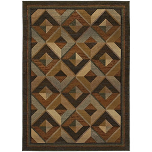 956Q1 Genesis Indoor Area Rug Brown/Beige
