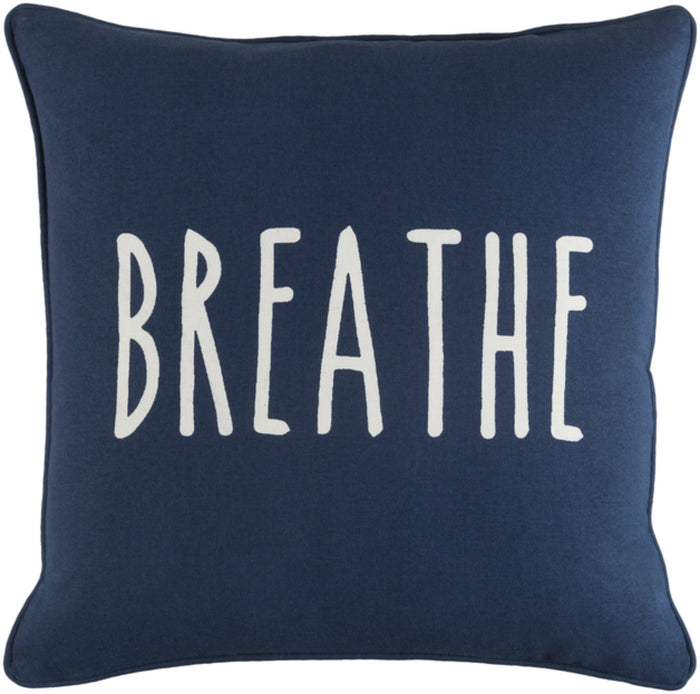 Glyph Pillow Cover - Navy, White - GLYP7092