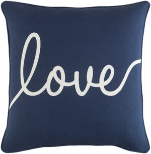 Glyph Pillow Cover - Navy, White - GLYP7099
