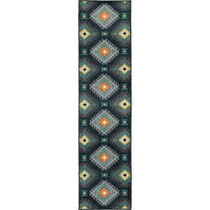 4929B Hampton Indoor/Outdoor Rug Navy/Grey