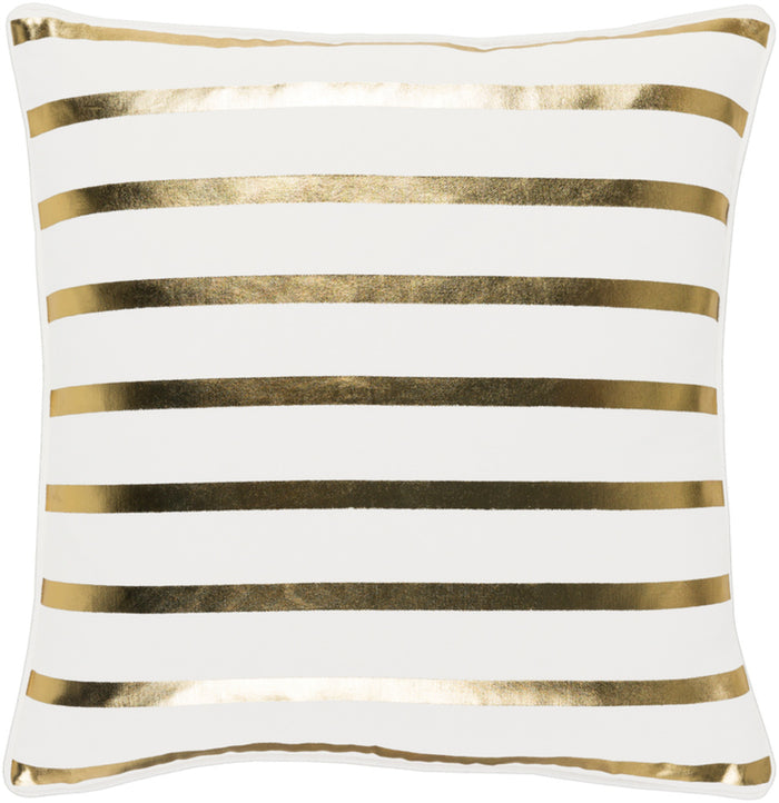 Holiday Pillow Kit - White, Metallic - Gold - Down - HOLI7249