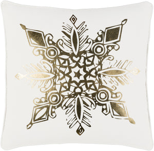 Holiday Pillow Kit - White, Metallic - Gold - Poly - HOLI7254