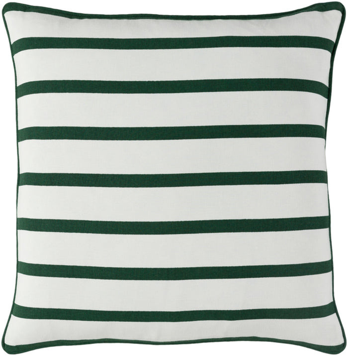Holiday Pillow Cover - Dark Green, White - HOLI7258