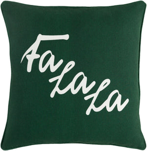Holiday Pillow Cover - Dark Green, White - HOLI7260