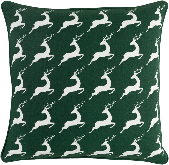 Holiday Pillow Kit - Dark Green, White - Poly - HOLI7264