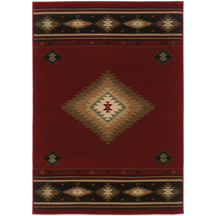 087K1 Hudson Indoor Area Rug Red/Green