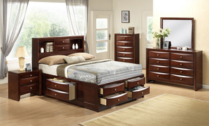 EG200 Emily Merlot Storage Bedroom