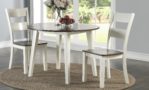 8205 Grey & White Drop Leaf Dining Room Set