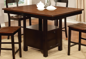 CDC393 Black And Cherry Pub Dining Set