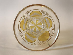 999300 Crystal Glass With 5 Amber Flashed Circles With 4 Engraved Landmarks 1 Plain, Cuts Around Circles, Bottom & Cut Base With Amber Flash, Bohemian Glassware, Antique, - ReeceFurniture.com - Free Local Pick Ups: Frankenmuth, MI, Indianapolis, IN, Chicago Ridge, IL, and Detroit, MI