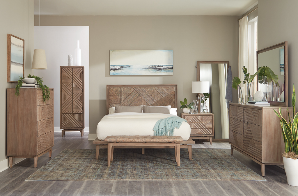 G223051 - Vanowen Bedroom Set - Handwoven Headboard