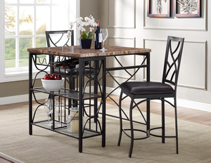 Awesome Ayden Kitchen Island And 2 Stools Pabps2019 Chair Design Images Pabps2019Com