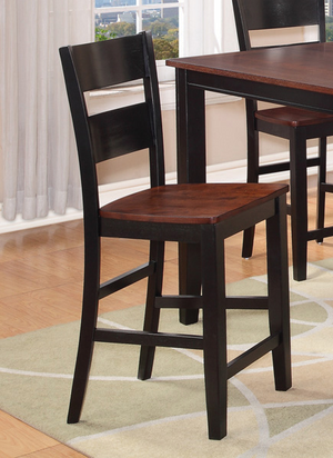 8202 Black & Cherry Pub Dining Room Set - ReeceFurniture.com