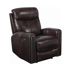 G608974 - Cushion Back Power^3 Recliner - Brown or Black