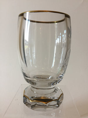 844012 Crystal Glass With Engraved Horse With Saddle, Ornate Engraving and 10 Flat Cuts On Base, Bohemian Glassware, Ernest Wittig, - ReeceFurniture.com - Free Local Pick Ups: Frankenmuth, MI, Indianapolis, IN, Chicago Ridge, IL, and Detroit, MI