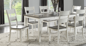 8205 Grey & White Dining Room Set