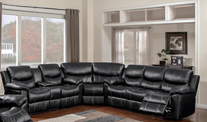66008 Champion Black 3 Piece Sectional