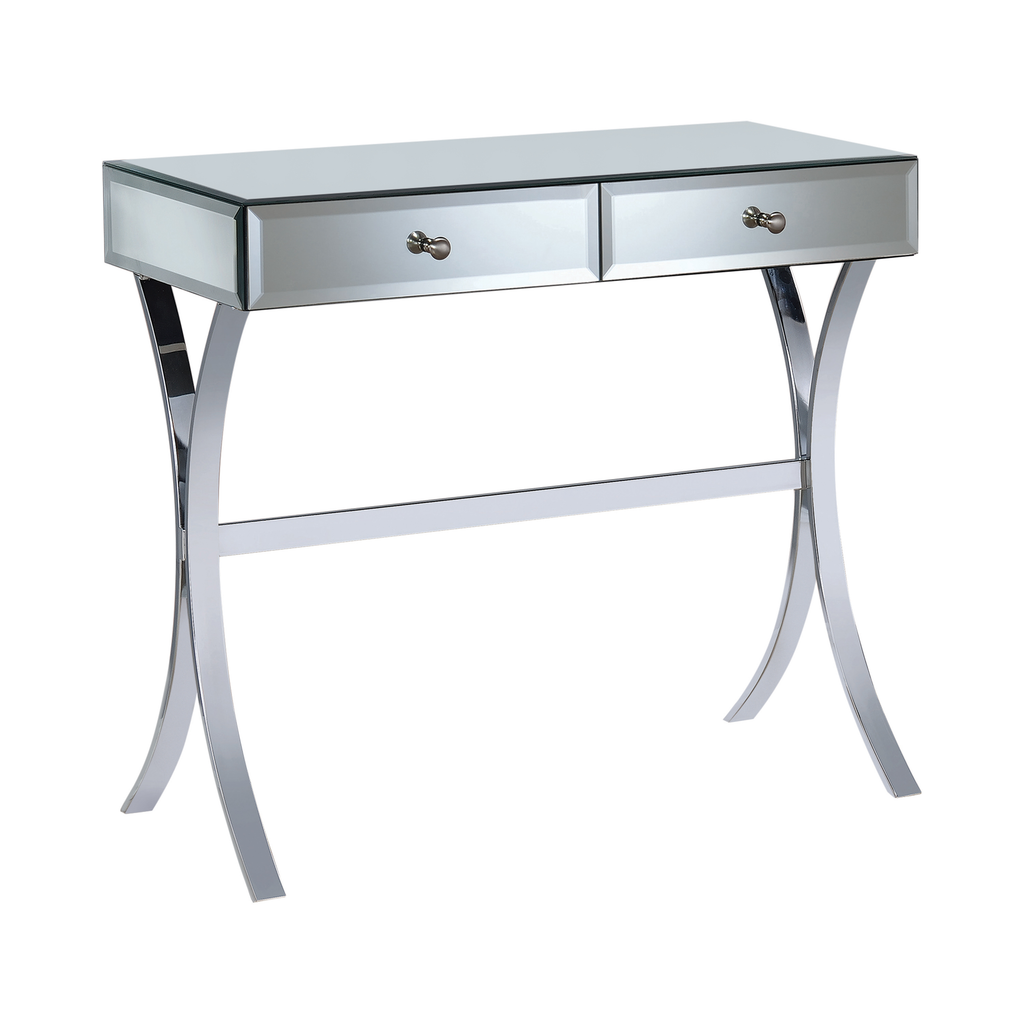 G950355 - 2-Drawer Console Table - Clear Mirror