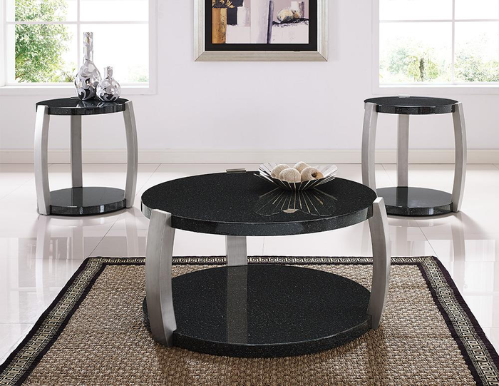 Orbit Faux Granite 3 Pack Occasional Tables