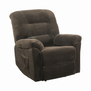 G600397 - Upholstered Power Lift Recliner - Chocolate, Charcoal, Beige or Brick Red